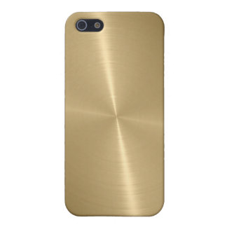 Gold Shiny Stainless Steel Metal 3 Cover For iPhone SE/5/5s
