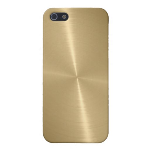 Gold Shiny Stainless Steel Metal 3 iPhone 5 Cover