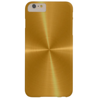 Gold Shiny Stainless Steel Metal Barely There iPhone 6 Plus Case