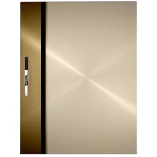 Gold Shiny Stainless Steel Metal Dry Erase Board