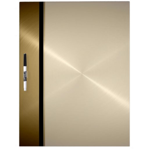 Metal Dry Erase Board : Gold shiny stainless steel metal dry erase board zazzle
