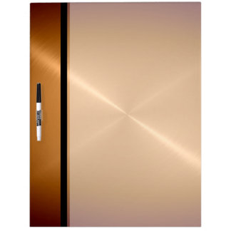 Gold Shiny Stainless Steel Metal Dry Erase Whiteboard