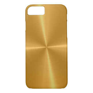 Gold Shiny Stainless Steel Metal iPhone 7 Case