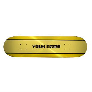 Gold Shiny Stainless Steel Metal Skateboard