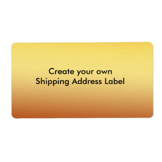 Gold Shipping Address Label Shipping Label