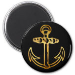 GOLD SHIPS ANCHOR MAGNETS