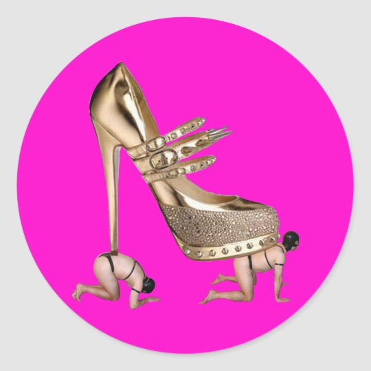 Gold Shoe slaves Stickers
