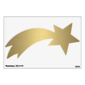 Gold Shooting Star Right Room Decals