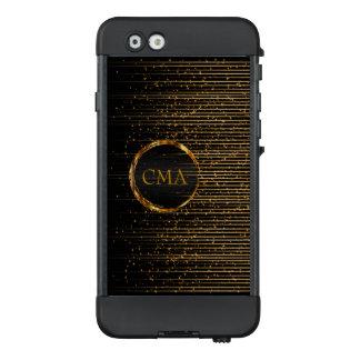 Gold Shooting Stars Design Pattern - Monogram LifeProof NÜÜD iPhone 6 Case