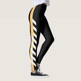 Gold Side Stripe Leggings