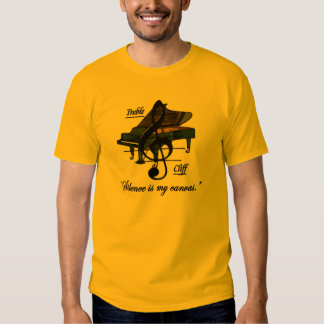 """Gold """"Silence is my canvas."""" T-Shirt"""