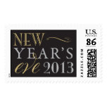 Gold, Silver and Black New Year's Eve 2013 Postage Stamp