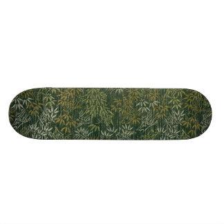 Gold & Silver Bamboo Skateboard