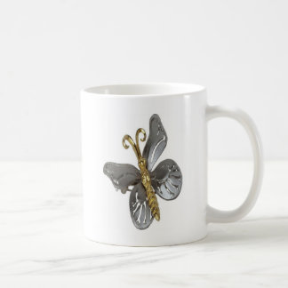 Gold & Silver butterflie Coffee Mug