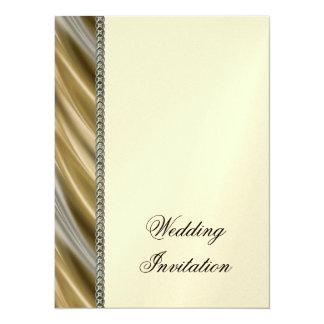 Gold silver chain 5.5x7.5 paper invitation card