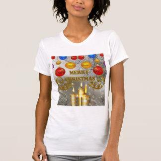 Gold & Silver Christmas Candles & Colorful Bulbs Shirt