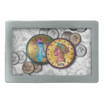 Gold, Silver Coin MONEY BELT BUCKLE by PopArtDiva