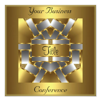 Gold Silver Conference Corporate Invitation Personalized Announcements