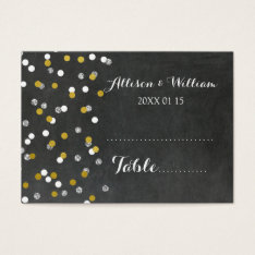 Gold Silver Confetti Table Place Setting Cards at Zazzle