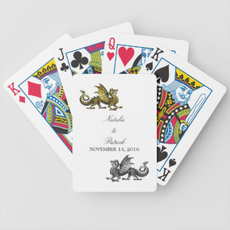 Gold Silver Dragon Wedding Playing Cards