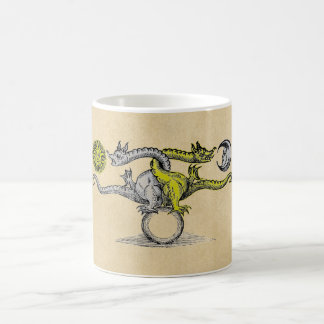 Gold & Silver Dragons of Alchemy Coffee Mug