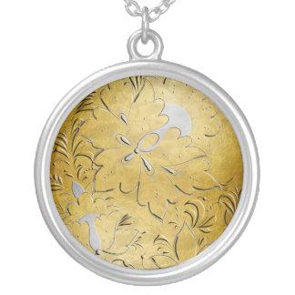 Gold & Silver Embossed Russian Folk Flowers - 1 Jewelry