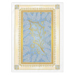 Gold & Silver Frosted Holly Leaves Table Cloth Tablecloth
