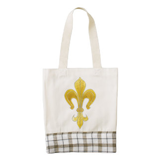 Gold & Silver Lily + your backgr. & ideas Zazzle HEART Tote Bag