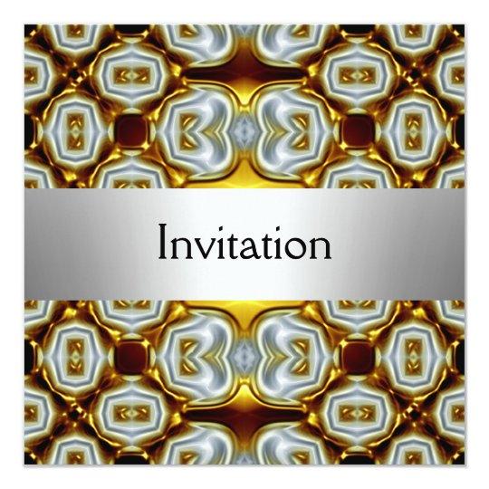 Gold Silver Party Invitation
