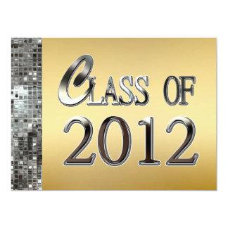 Gold & Silver Sequins Graduation Invitations