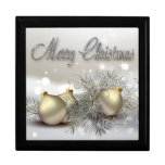 Gold & Silver Shimmer Christmas Ornaments Jewelry Box
