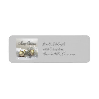 Gold & Silver Shimmer Christmas Ornaments Label