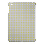 Gold silver snowflakes on silver iPad mini cover