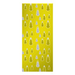 Gold silver snowmen on gold fade full color rack card