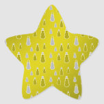 Gold silver snowmen on gold fade star stickers
