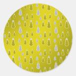 Gold silver snowmen on gold fade sticker