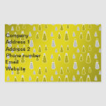 Gold silver snowmen on gold fade rectangular sticker