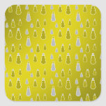 Gold silver snowmen on gold fade stickers