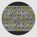 Gold & Silver Thank You Stickers sticker