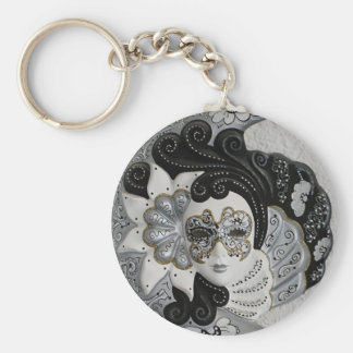 Gold Silver Venetian Mask Keychains