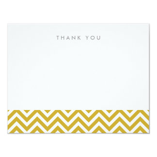 Gold Simple Chevron Thank You Note Cards