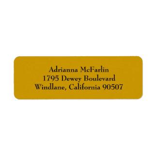 Gold Simple Plain Return Address Labels