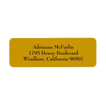 Professional Business Gold Simple Plain Return Address Labels