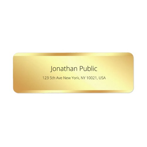 Gold Simple Template Modern Return Address Label