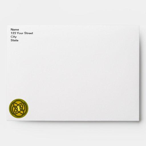 Gold Single Loop Knot Envelope