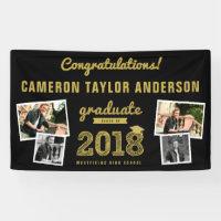 Gold Sketch 2018 Photo Collage Graduation Banner