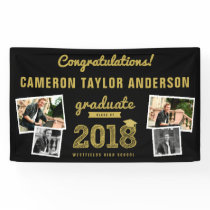 Gold Sketch 2018 Photo Collage Graduation Banner