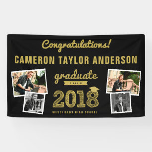 graduation banners signs zazzle