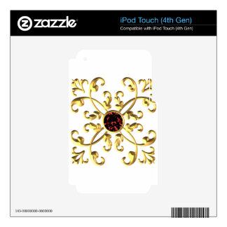 Gold Skin For iPod Touch 4G