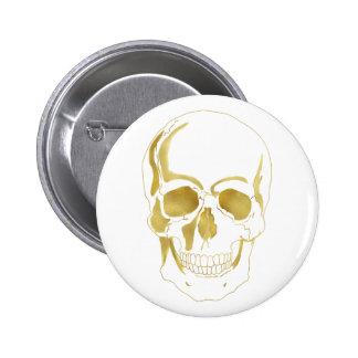 Gold Skull Button